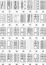 Дверні накладки для броньованих дверей